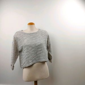 KERSH | Knit Cropped 3/4 Sleeve Ladies Top Size L